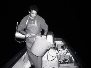 Mit Andreas Braschler, Fischer, um 4 Uhr auf dem Zürichsee