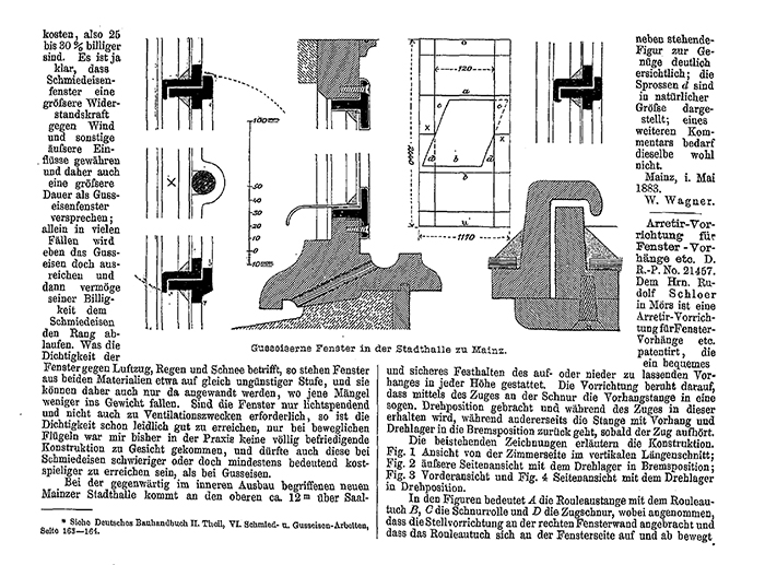 Auszug Deutsche Bauzeitung, 31.10.1883